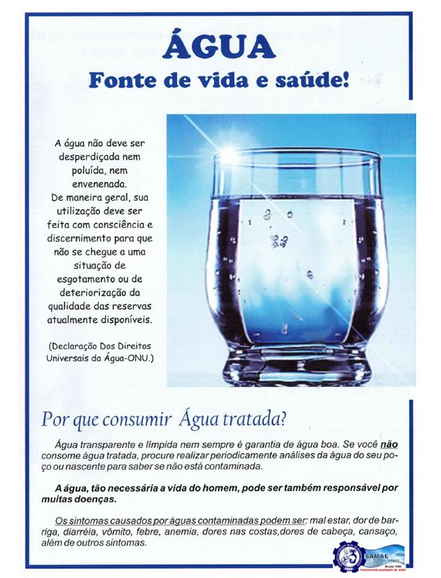 Porque Consumir Água Tratada